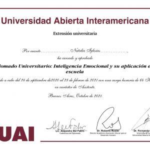 Diplomado Universitario de INTELIGENCIA EMOCIONAL Y SU APLICACIÓN EN LA ESCUELA